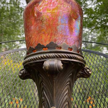 Fritz Heckert lamp - Art Glass