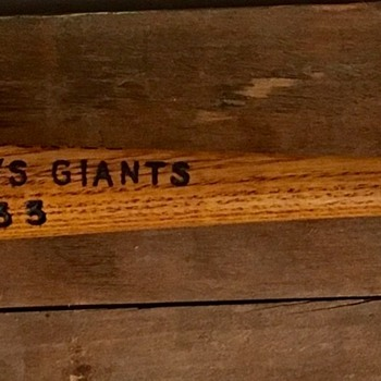 1933 World Series souvenir Mini Bat   - Baseball