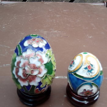 My cloisonné eggs - Asian