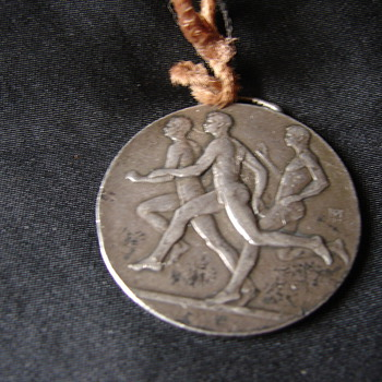 Unknown Very Old Silver Track Medal  - Silver
