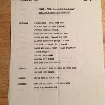 Original Working Script for 101 Dalmations -1961