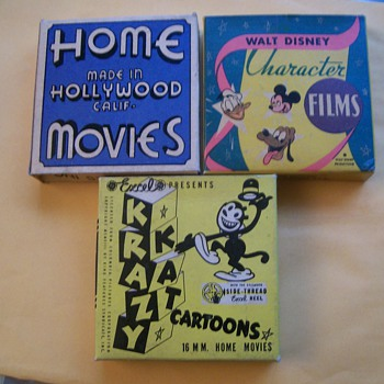 8mm film boxes - Movies
