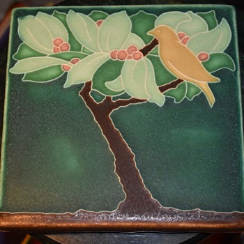 Motawi Tile with a Fruiting Tree and a Bird - Pottery