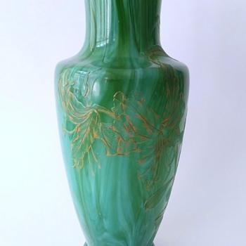 Early Loetz: Malachite vase - Art Glass