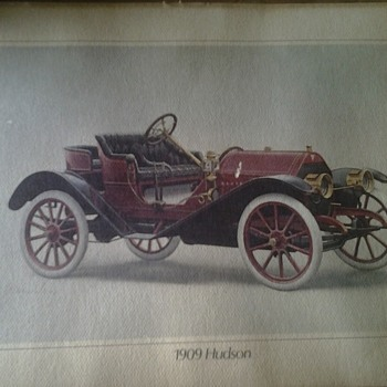Hudson 1909 car print by alan wilson - Fine Art