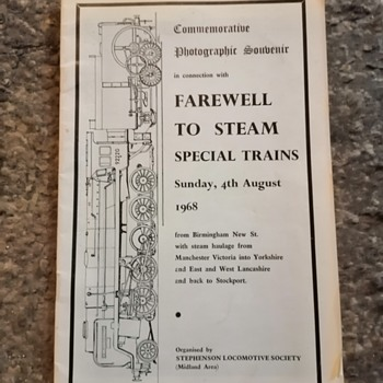 Farewell to steam, 4th August 1968. - Railroadiana