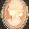 800 Grade Silver and Carnelian Cameo Ring