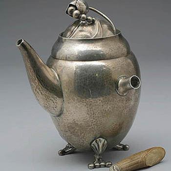 Early Jensen Coffeepot Restoration - Silver