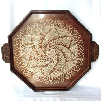 Arts & Craft Netherlands Hand Worked Wood Serving Tray Early 20th Century - Arts and Crafts