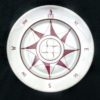 Mayer China circa 1930-40 mark nautical Compass Plate - China and Dinnerware