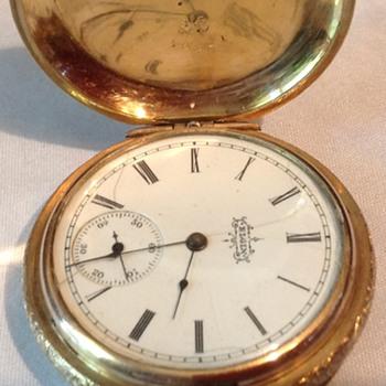 1895 Elgin Pocket Watch in case