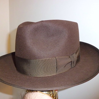 nice brown stetson whippet snap brim fedora