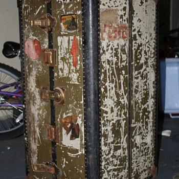 Antique Hartmann Wardrobe Luggage  - Furniture