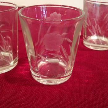 Vintage Cut Glass Shot Glasses - Glassware