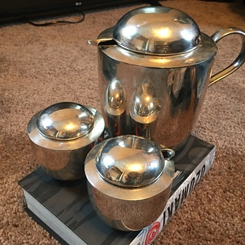 Vintage Dansk International Silver Plated Tea/Coffee Set - Silver