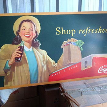 Shop Refreshed Metal Sign - Coca-Cola