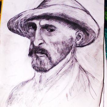 My Drawing of VanGogh - Fine Art