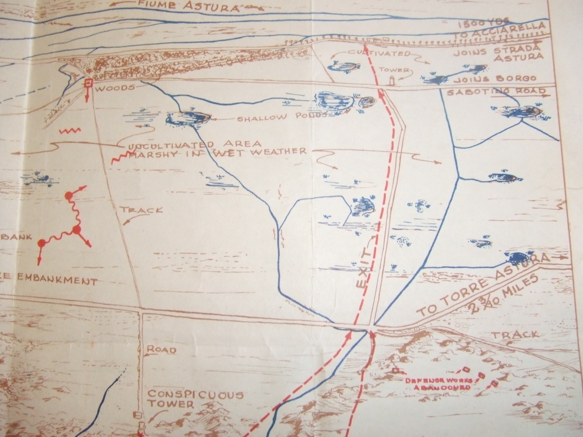 Operation Shingle Anzio 22 JAN 1944 Invasion Map for LCI 220