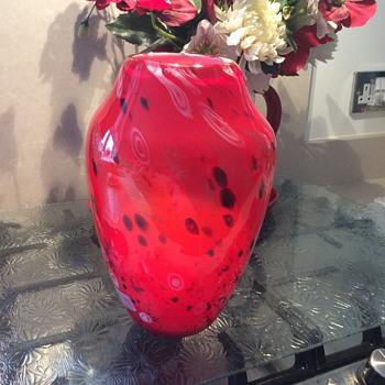 Red vase - Art Glass