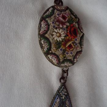 Italian Micro Mosaic Pendant - Fine Jewelry