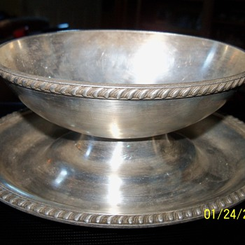 R. Wallace silver soldered bowl
