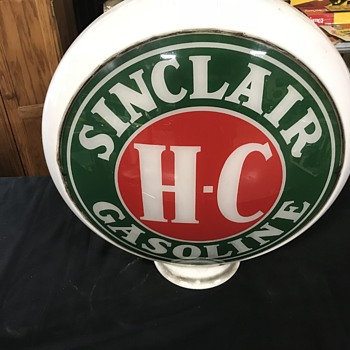 Sinclair glass gas pump globe original  - Petroliana