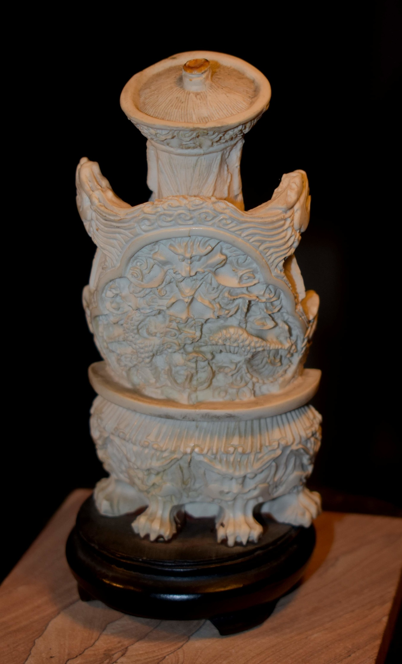 Hand Carved Statue Emperor Guardian Bone Resin Collectors Weekly