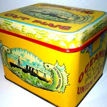 Oceanic Cut Plug Tobacco Tin - Tobacciana