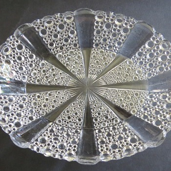 George Davidson Clear Pressed Glass Dish - Glassware