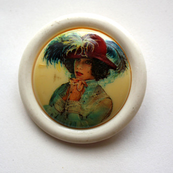 Western Germany brooch - Costume Jewelry