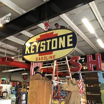 Keystone Gas Porcelain Sign - Signs