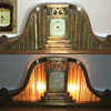 Unknown Maker 1930's Ornate Copper and Brass Lighted Mantle clock