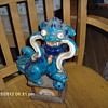 Antique Foo Dog,Turquoise In Color