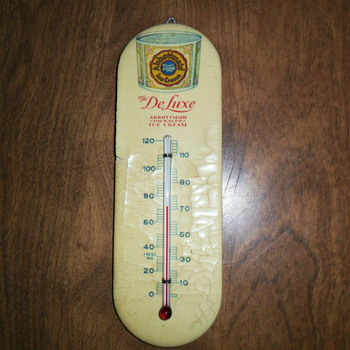 Abbottmaid Deluxe Packaged Ice Cream Thermometer.