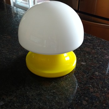 Yellow glass mushroom lamp - Lamps
