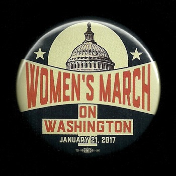 Woman's March Jan. 21st 2017 Pinback Button