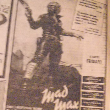Mad Max ad in the newspaper 1980 - Posters and Prints