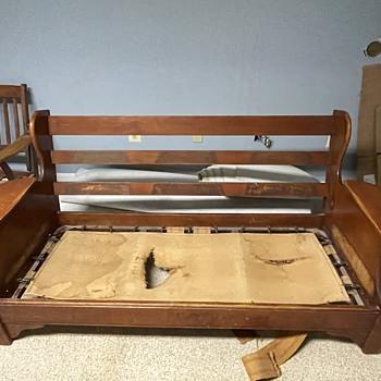 Antique mission sofa, chair, recliner chair frames  - Furniture