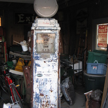 1935-39 Bennett 76 Sinclair HC Gas Pump - Petroliana