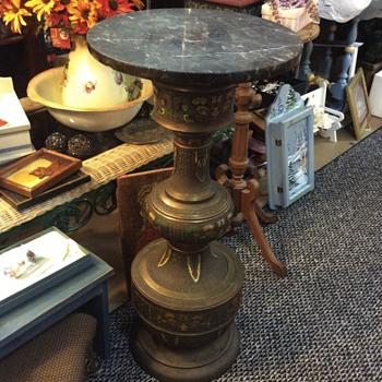 antique bronze vase pedestal  - Furniture