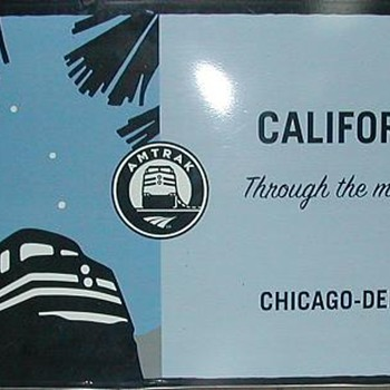 Amtrack Promotional Sign - Advertising