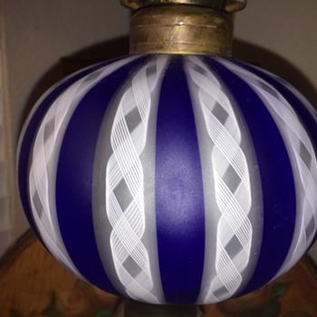 Now that's a Fine Art Glass Oil Lamp! - Art Glass
