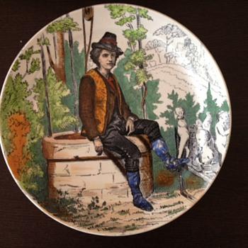 Antique Creil & Montereau L.M. & Cie plate - Pottery