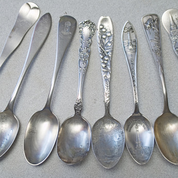 Sterling Spoon collection Salem Witch,North Church Boston - Silver
