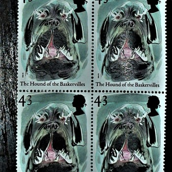 'Hound of the Baskervilles' stamp from the 1997 Tales of Terror set 43p - Stamps