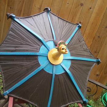 samba parade lighted parasol? - Folk Art