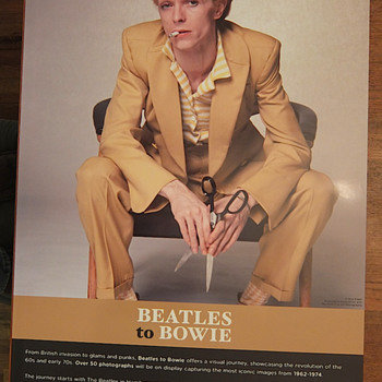 Beatles to Bowie photo-exhibition poster - Photographs