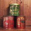 3 Early 1900's Coffee Tins