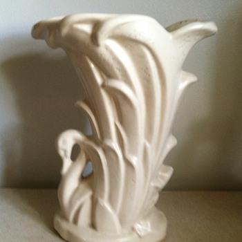 McCoy Swan Vase - Pottery