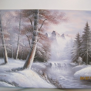 2 M. Scott Raised Relief Paintings